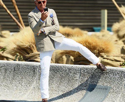 white pants code